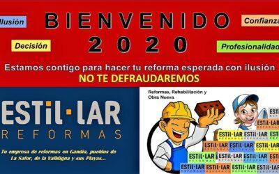 ¡ BIENVENIDO 2020 ! ¿Emprendemos este año tu Obra de Reforma? ¡ DECÍDETE !