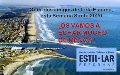 Queridos amigos de toda España, ¡OS VAMOS A ECHAR MUCHO DE MENOS EN SEMANA SANTA!