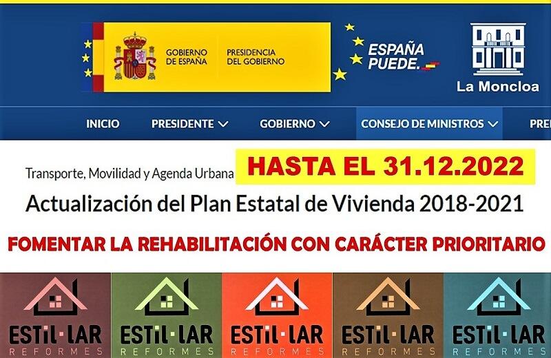 PRÓRROGA DEL PLAN DE VIVIENDA HASTA EL 31.12.2022